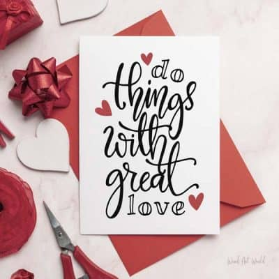Do things with great love card
