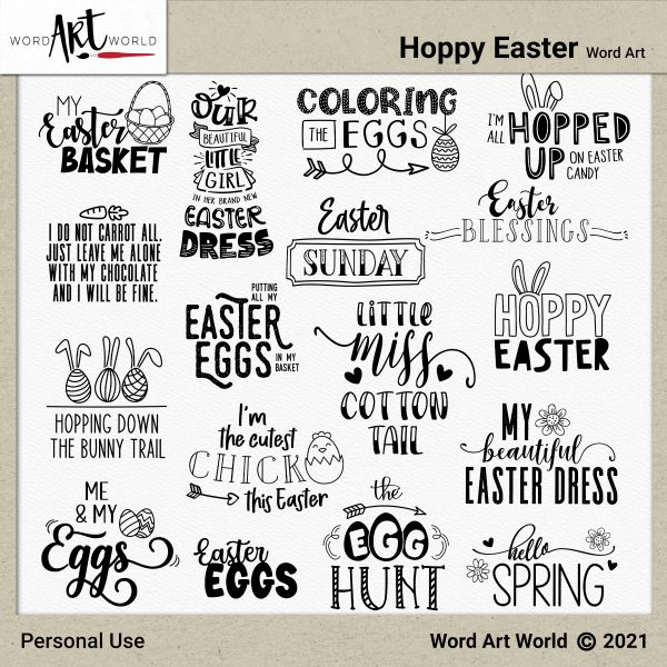 Hoppy Easter Word Art