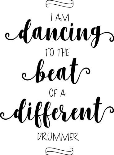 dancing to the beat