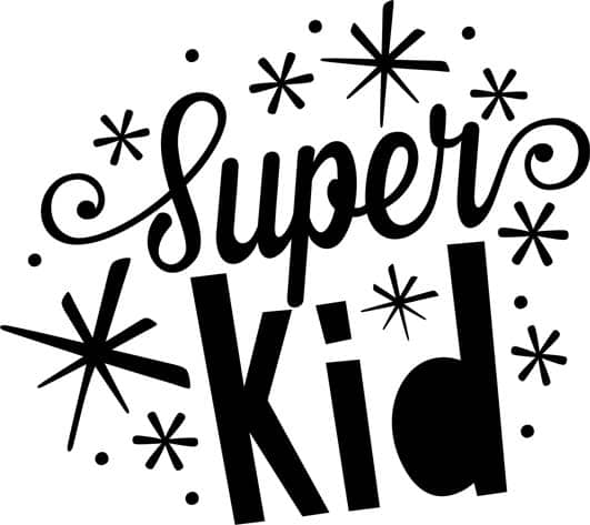 super kid word art