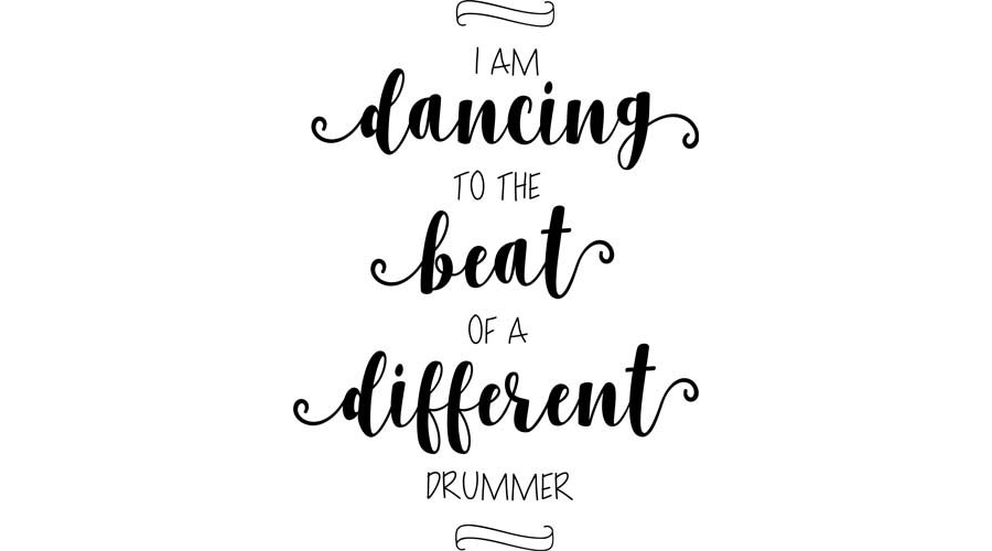 Dancing to the Beat Word Art
