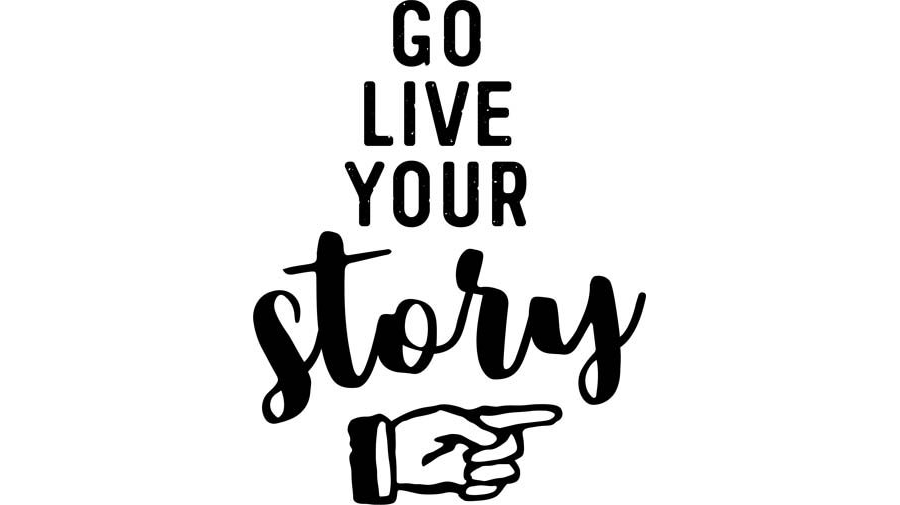 Go Live Your Story Word Art